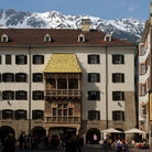 Picture - The famous Late Gothic oriel windows called the Golden Roof in Innsbruck.