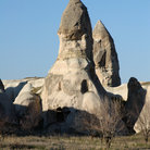 Picture - Stone chimneys with artificial caves near Goreme.