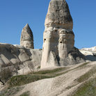 Picture - Stone chimneys near Goreme.