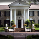 Picture - Portico of Graceland, Elvis Presley's mansion in Memphis.