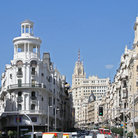 Picture - Gran Via Street in Madrid.