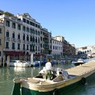 Picture - Boat on the Grand Canal in Venice.