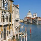 Picture - Buildings on the Grand Canal in Venice.