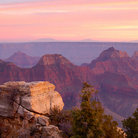 Picture - Bright Angel Point at Sunset, Grand Canyon.