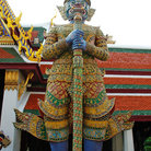 Picture - Stone guardian at Wat Phra Kaew temple in Bangkok, near the Grand Palace.