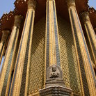 Picture - Pillars and statue at the Grand Palace in Bangkok.