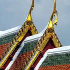 Picture - Colorful roof of the Grand Palace in Bangkok.