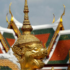 Picture - Golden statue at the Grand Palace in Bangkok.