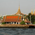 Picture - View of the Grand Palace from the Chao Phraya River in Bangkok.