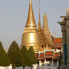 Picture - Temple of the Emerald Buddha (Phra Sri Ratana Chedi ) tower in the Grand Palace, Bangkok.