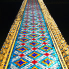 Picture - A column at the Temple of the Emerald Buddha at the Grand Palace in Bangkok.