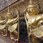 Picture - Statues from the Temple of the Emerald Buddha in Bangkok.