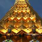 Picture - Golden Pagoda at the Temple of the Emerald Buddha in Bangkok.