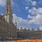 Picture - Colorful flower display at the Grand Place in Brussels.