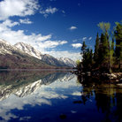 Picture - Mountains reflecting on Jenny Lake, Grand Teton National Park.