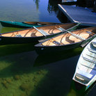 Picture - Canoes on Jenny Lake, Wyoming.