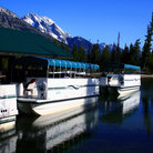 Picture - Cruise boats docked on Jenny Lake, Wyoming.