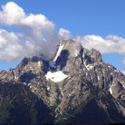 Picture - Clouds over Grand Teton.