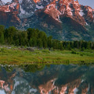 Picture - Grand Teton reflecting on the Snake River, Grand Teton National Park.