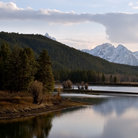 Picture - Lake and mountain scenery in Grand Teton National Park.
