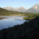 Picture - Oxbow bend in the Snake River at Grand Teton National Park.
