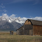 Picture - Historic barn in Mormon Row in Grand Teton National Park.