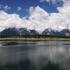 Picture - Clouds over the mountains of Grand Teton National Park.