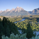 Picture - View from the Snake River Overlook in Grand Teton National Park.