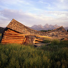 Picture - Collapsed barn in Grand Teton National Park.