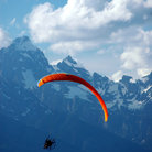 Picture - Paraglider in the Tetons, Grand Teton National Park.