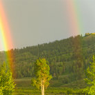 Picture - Double rainbow over Grand Teton National Park.