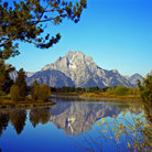 Picture - Oxbow Bend of the Snake River with Mount Moran reflected, Wyoming.