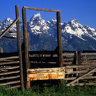 Picture - A corral in Grand Teton National Park, Wyoming.