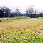Picture - Mounds of Grand Village of Natchez Indians destroyed by the French in 1729.