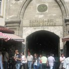 Picture - Tourists outside the Kapalicarsi Grand Bazaar in Istanbul.
