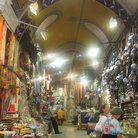Picture - Tourists bargain hunting in the Grand Bazaar in Istanbul.