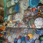 Picture - Turkish porcelain souvenirs in Grand Bazaar in Istanbul.