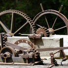 Picture - Gears from the old Chesapeake and Ohio Canal, Potomac, Maryland.