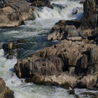 Picture - River at Great Falls Park on the Potomac River in Virginia.