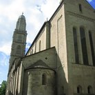 Picture - The Grossmunster, a 12th century Romanesque style Church in Zurich.