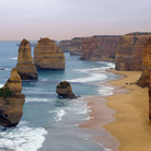Picture - The twelve Apostles along the Great Ocean Road.