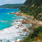 Picture - Coastal scenery of the Great Ocean Road.