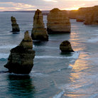 Picture - Twelve apostles at sunset along the Great Ocean Road.