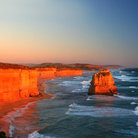 Picture - Sunset along the Great Ocean Road.