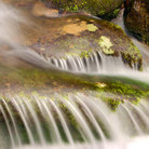 Picture - Water cascading over a small falls in Great Smoky Mountains National Park.