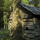 Picture - Chimney of Ephraim Bales Palace in Great Smoky Mountains National Park.