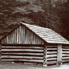 Picture - Old log cabin at Cades Cove, Great Smoky Mountains National Park.