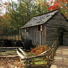 Picture - An old corn mill in Cades Cove, Great Smoky Mountains National Park.