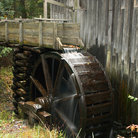 Picture - Wheel on old mill in Great Smoky Mountains National Park.