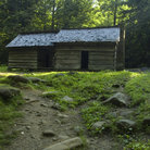 Picture - Ephraim Bales cabin in Great Smoky Mountains National Park.